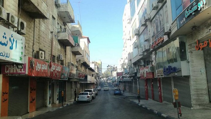 إضراب شامل يعم الأراضي الفلسطينية للتنديد بقرار ترامب حول القدس