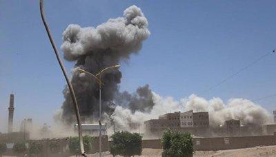 استشهاد 7 مواطنين بينهم امرأة بغارة لطيران العدوان في صعدة