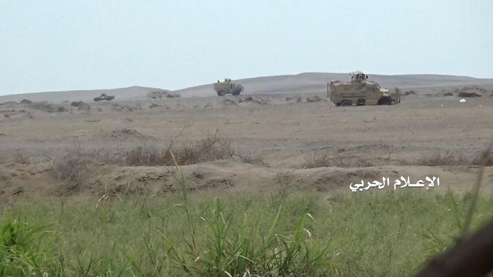 رجال الله يتمكنون من تدمير رتل عسكري للعدوان ومرتزقته في الساحل الغربي