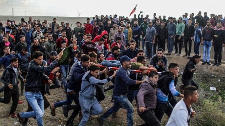 مواجهات واعتقالات مع العدو الصهيوني في جمعة الغضب الفلسطينية السادسة